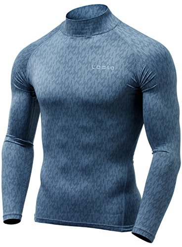 TSLA Men's Thermal Wintergear Compression Baselayer Mock Long Sleeve Shirt YUT32 / YUT42