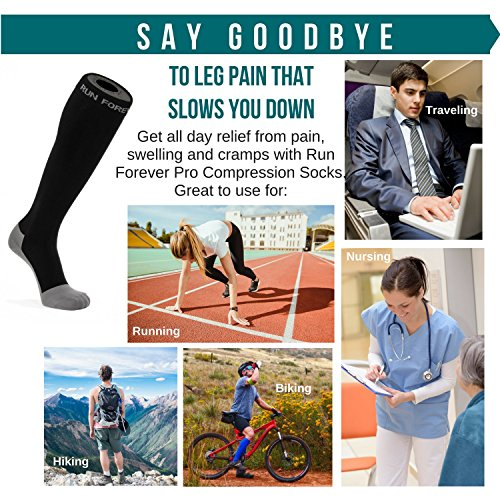 Compression Socks for Men & Women – BEST (20-30mmHg) Medical Grade Graduated Recovery Stockings for Nurses, Maternity, Travel, Running, Leg Relief, Swelling, Calf Pain, Shin Splints