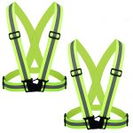 Flytt Reflective Vest 2 Pack, Elastic and Adjustable Reflective Gear for Running, Walking, Jogging,Cycling,Motorcycle (Green)