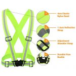 K-Brands Reflective Vest for High Visibility All Day and Night for Running, Biking and More, Unisex (1 Vest, 2 Arm Bands)