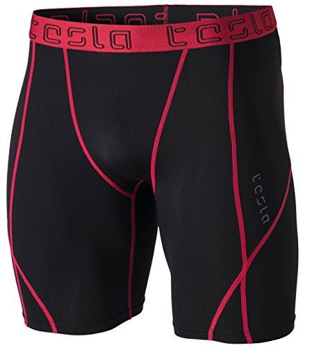 TSLA Men's Compression Shorts Baselayer Cool Dry Sports Tights MUS17/S17