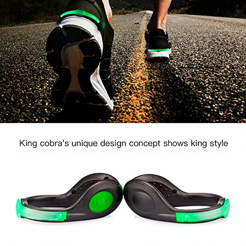 SLDHR LED Shoes Clip Lights USB charging for Night Running Gear, Color Changing RGB Strobe and Steady Color Flash Mode, Safety Clip Lights for Running, Jogging, Walking, Biking(One Pair)