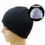 Vakabva Reflective Beanie Hat Enhanced Visibility Cold Weather Running Beanie Cap One Size