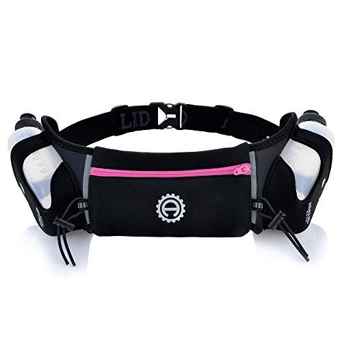 Hydration Belt for Running – Includes Accessories and Two 10-Ounce BPA-Free and Leak-Proof Water Bottles : A Bounce-Free & Lightweight Fuel Gear