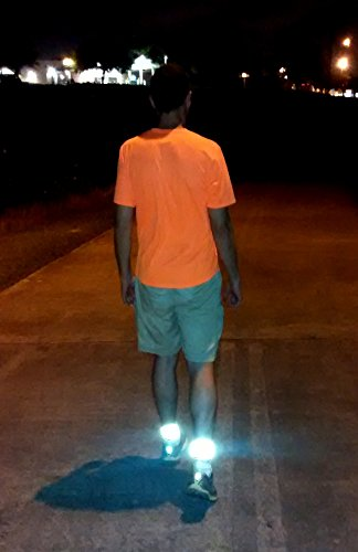 Leg Shield Reflective Ankle Bands – Very Large Reflective Surface Area – Super Bright, Comfortable, Neoprene – For Biking, Running, Walking – Protects Cyclist's Pants from Chain (Pair)