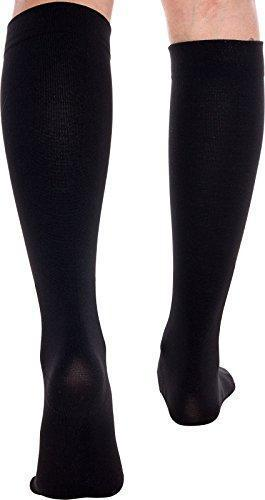 Plain Jane Wide Calf Compression Socks – Graduated 15-25 mmHg Knee High Plus Size Support Stockings by LISH