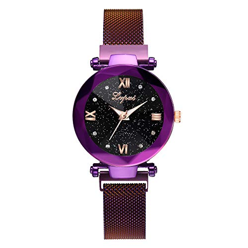 Women's Watch Starry Sky Stainless Steel Mesh Belt Watch Quartz Analog Watches Fashion