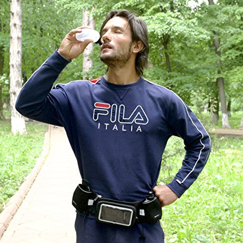 Runtasty 2X 10 oz BPA Free Water Bottles for The Running Hydration Belt w/Touch Screen Cover! Full Compatibility with Most Running Fuel Belts and Fanny Packs on The Market!