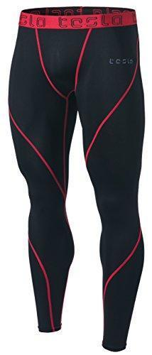 TSLA Men's Compression Pants Baselayer Cool Dry Sports Tights Leggings MUP19