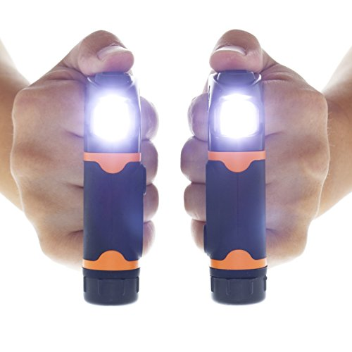 Knuckle Lights Advanced – Rechargeable LED Light for Running & Jogging, Dog Walking & Hiking. 2 Ultra Bright Units Provide a Powerful 280 lumens of Illumination