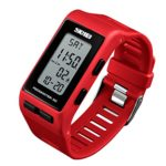 Mens Digital Sports Watch Waterproof Pedometer Calorie Counter Alarm Women Running Watches Back Light Multi-Function Large Face Wristwatch for Adults