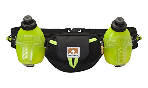 Nathan Hydration Running Belt Trail Mix – Adjustable Running Belt – Includes 2 Bottles – Fits iPhone 6/7/8 Plus and Other 6.5 Inch Smartphones