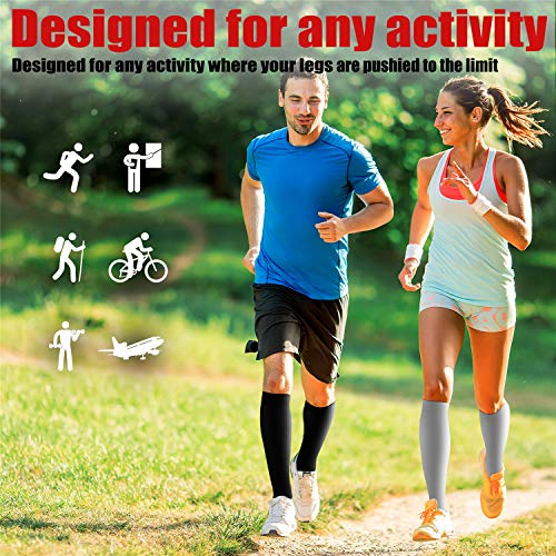 Copper Compression Socks (7 Pairs) for Men & Women – Best for Running,Athletic,Medical,Pregnancy and Travel – 15-20mmHg