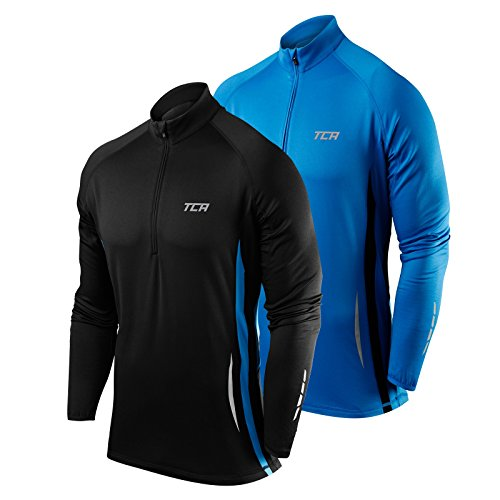 TCA Winter Run Men's Half-Zip Long Sleeve Running Jacket