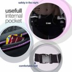 Hydration Running Belt For Woman And Men Adjustable For Jogging Fitness And Workout – Water Belts Fits Any Phones Iphone Size – Black Marathon Race Pack With Bottles – Fuel Waist Pouch For Runners