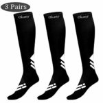 3 Pairs Compression Socks Men & Women (15-20mmHg) Fitness Varicose Veins Circulation & Recovery