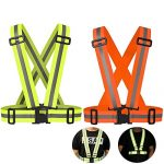 Reflective Night Running Vest with Adjustable Strap & Breathable Holes, Ultrathin Lightweight Safety Vest with 360° High Visibility for Running, Jogging, Cycling, Hiking, Walking, Multicolor Optional