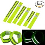 Reflective Band (6 Bands/3 Pairs) | High Visibility Safety Gear for Running, Bike, Dog Walking, Jogging | Wearable as Ankle Bands, Armband, Wristbands | Made of Silver Strap, Elastic