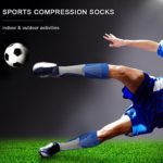3 Pairs Compression Socks Men Women Athletic Socks for Run, Basketball, Soccer, Travel, Flight, Nursing, 20-30 mmHg