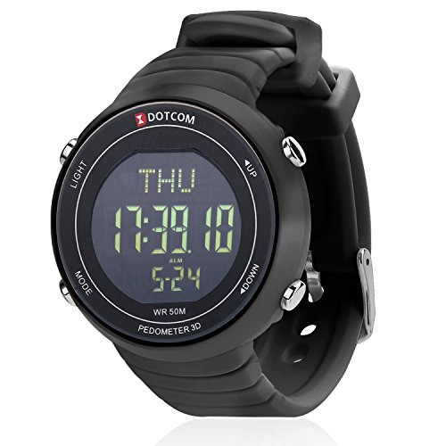 Sports Watches Waterproof Outdoor Pedometer Watch EL Backlight Pedometer Digital Watch Sport Wristband Watch