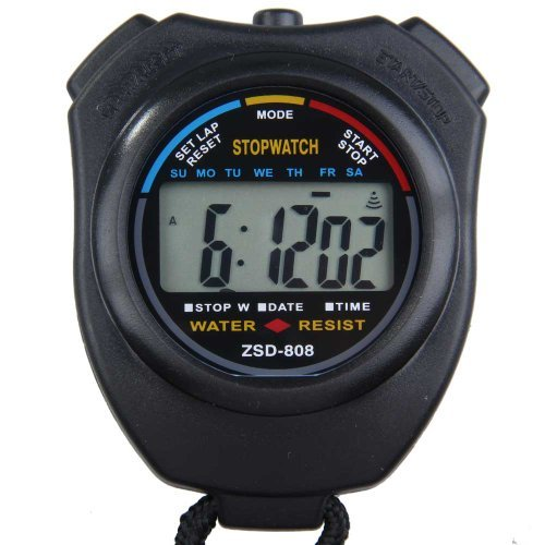 Vktech New Digital Running Timer Chronograph Sports Stopwatch Counter with Strap