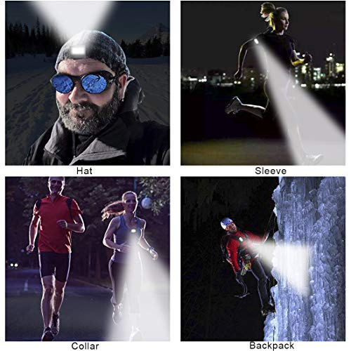 RODH Led Safety Lights for Runners Night Running Dog Walking Cycling Kids Daytime Super Bright Night Visibility Strobe and Strong Magnetic Clip USB Rechargeable