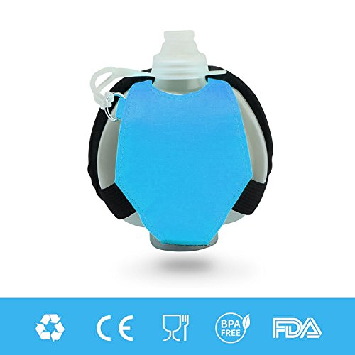 Eyourlife Wearable Hands Free Wrist Water Bottle for Running, Cycling, Hiking, Camping, Traveling, Hydration System for Runners and Athletes