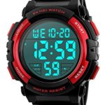Men's Digital Sports Watch LED Military 50M Waterproof Watches Outdoor Electronic Army Alarm Stopwatch