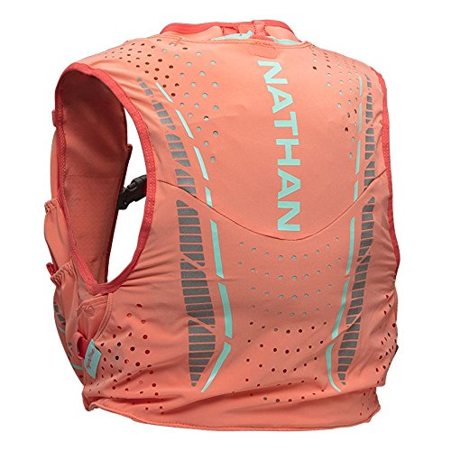 Nathan VaporHowe Hydration Pack, Running Vest, Includes two 12oz Flasks with Extended Straws, Compatible with 1.5L Hydration Bladder Reservoir, Women's