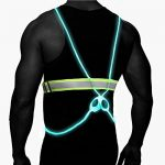 Atlecko 360° Reflective LED Running, Cycling or Hiking Vest & Belt for Men, Women & Kids – Safe & Comfortable – Bright Lights for High Visibility, Excellent Battery Life – Perfect for Night & Morning