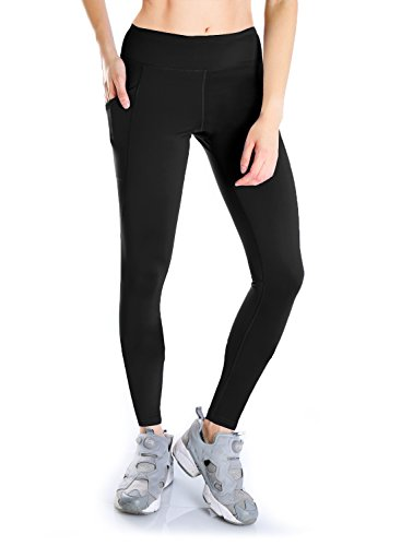 Yogipace, Petite/Regular/Tall, Women's Hiking Leggings Compression Long Leggings Base Layer Running Cycling Tights with Side Pockets