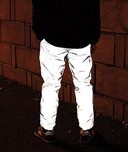 J&A Mens Super Bright 3M Reflective Joggers Pants High Visibility Running Trousers