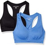 Amazon Essentials Women's 2-Pack Light Support Seamless Sports Bras
