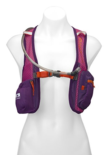 Nathan Hydration Running Vest – 2 Liter Hydration Pack with Bite Valve – Smartphone Compatible Pocket for Storing Essentials – Designed Specifically for Women (Very Berry Color)